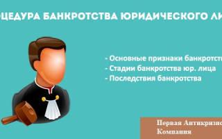 Банкротство юридических лиц 2018 года пошаговая