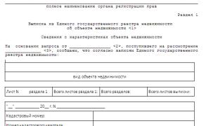 Выдается ли выписка из ЕГРП после регистрации права собственности?
